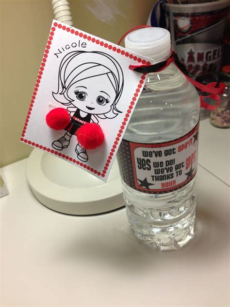 cheerleading crafts for water bottles craft ideas
