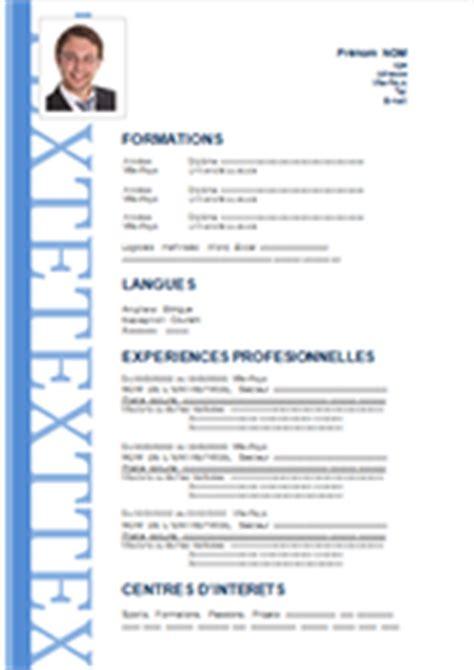 Cv Model En Francais Word by Jaoloron