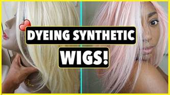 how to color synthetic hair how to dye synthetic wigs imbrittanybrown