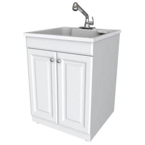 Laundry Sink Cabinet Home Depot by Glacier Bay All In One 24 In X 24 5 In X 34 5 In