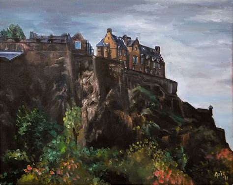 Landscape Artists Edinburgh De Joie Edinburgh Landscape Painting Castle Rock