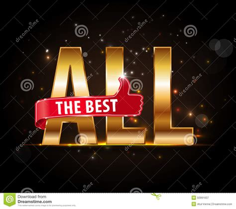 all best all the best motivational graphic for best wished stock