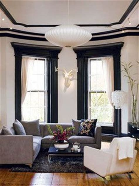 Living Room Window Molding 11 Living Room Looks We D To Black Window