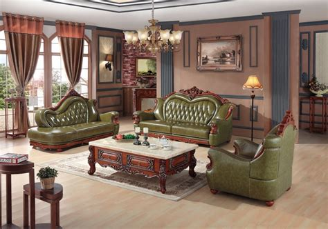 luxury living room furniture sets luxury european leather sofa set living room sofa china wooden frame sectional sofa green 1 4