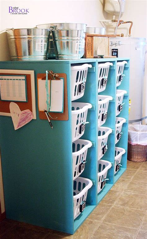 Diy Laundry Room Storage Diy Laundry Basket Storage Organization