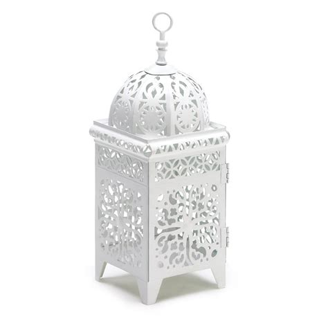 white filigree candle lantern wholesale  koehler home decor