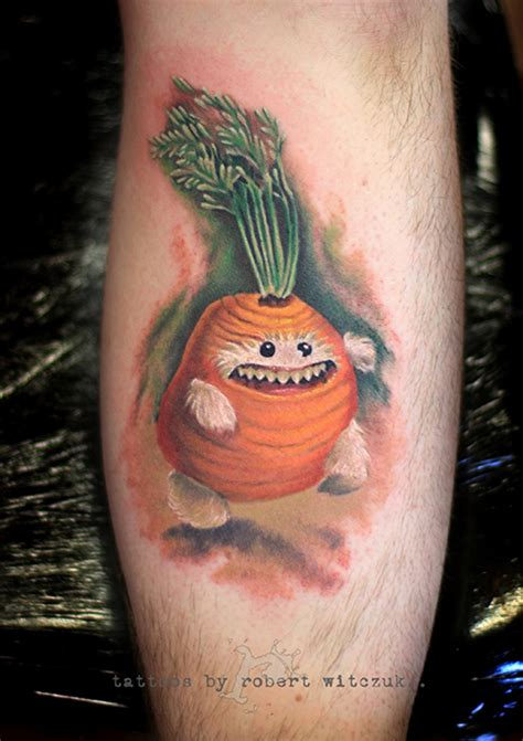 carrot man tattoo robert witczuk tattoos