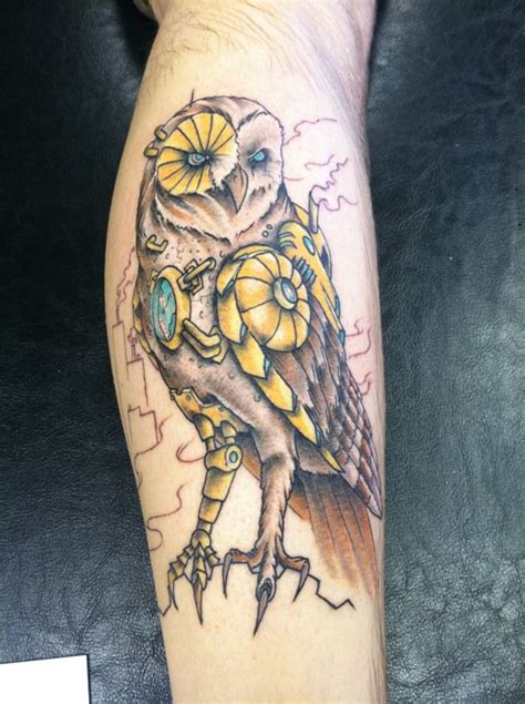 steampunk barn owl still need to have the background