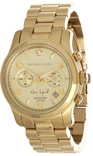 M Hael Kors New York Gold michael kors limited edition new york runway chronograph