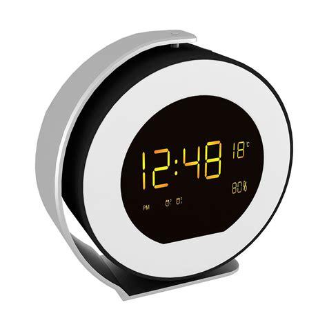 wireless alarm clock bluetooth sound box led mini