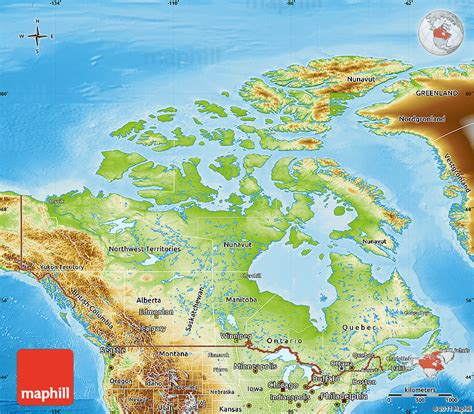 map of canada physical physical features of canada pictures to pin on