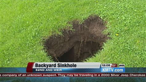 small sinkhole in backyard omaha homeowners discover sinkhole in backyard youtube