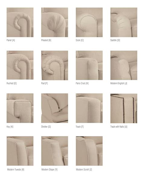 sofa styles guide 50 amazingly clever cheat sheets to simplify home