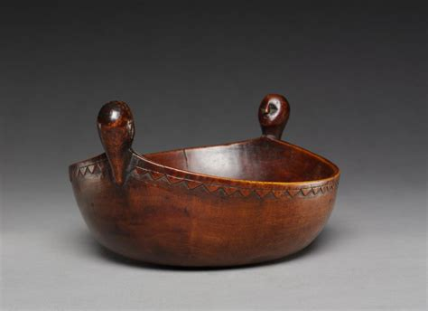 bowl cleveland museum  art bowl carved spoons wood