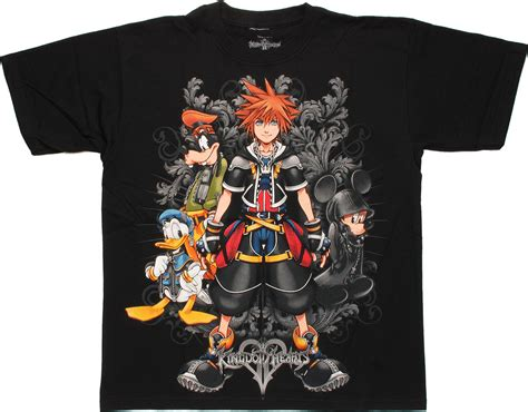 t shirt crossover merch hearts kingdom hearts filigree black t shirt