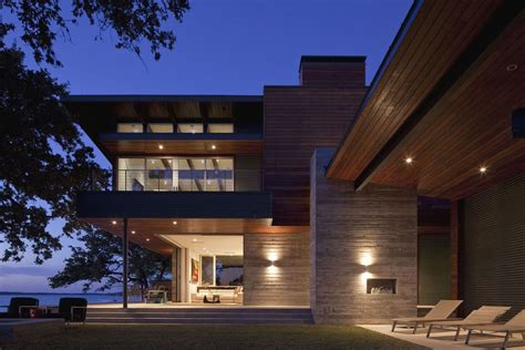 beside lake modern wooden house design olpos design contemporary lake lbj retreat by dick clark architecture