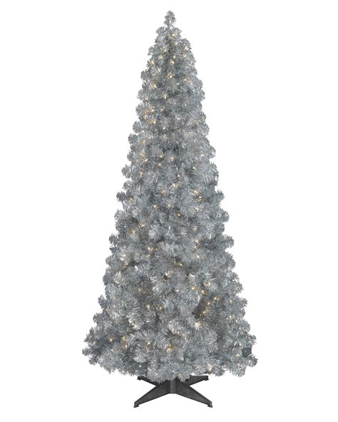 silver artificial christmas tree treetopia