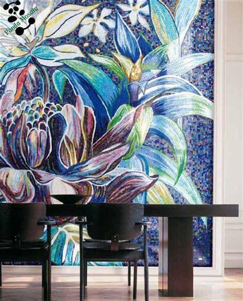 Mosaic Wall Murals smm15 b handmade glass mosaic bedroom wall tile red rose