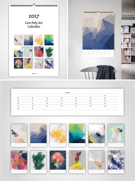 Calendar For Wall 13 Modern Wall Calendars To Get You Organized For 2017