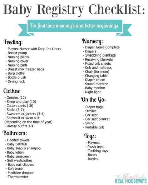 Baby Shower List by Baby Registry Checklist For A Better Beginning The