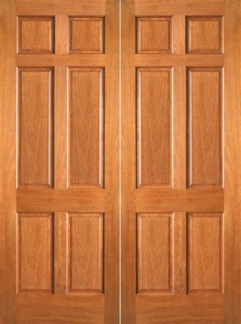 6 Panel Wood Doors by P 660 Interior Wood Mahogany 6 Panel Door