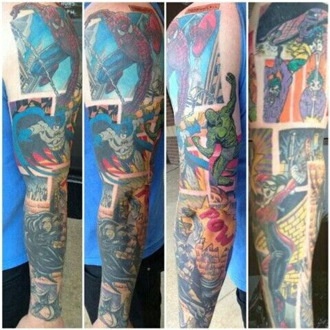 superhero tattoo sleeve sleeve mine would loki thor