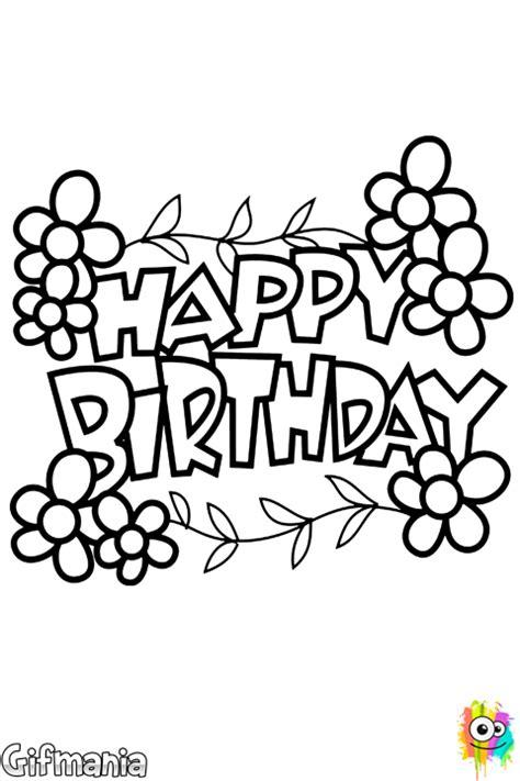 imagenes en blanco y negro de feliz cumpleaños dibujo de feliz cumplea 241 os para colorear