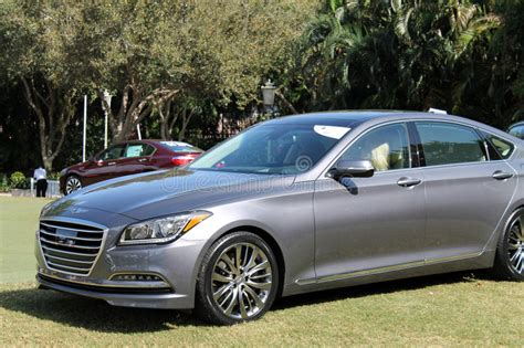 Hyundai Boca Raton by Modern Luxury Car On Display At Event Editorial Photo