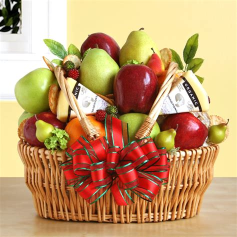 fruit gift baskets organic fruit cheese gift basket gift baskets