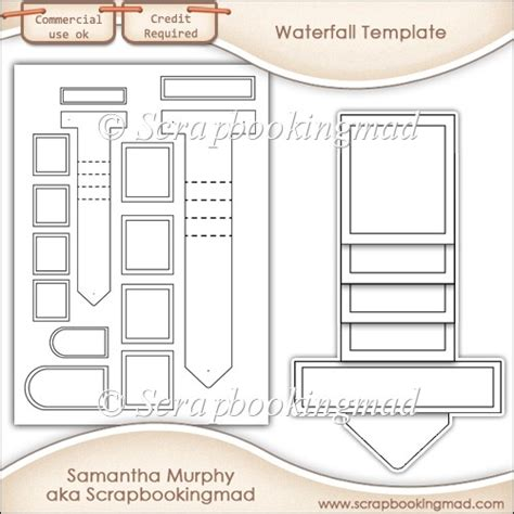 draw so mini waterfall card template waterfall template commercial use 163 3 50 instant card