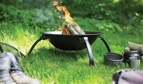 Steel Cing Fire Pit Bbq With Folding Legs Free Bag Firepit Bbq