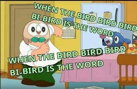 Bird Is The Word rowlet knows the bird is the word pok 233 mon amino