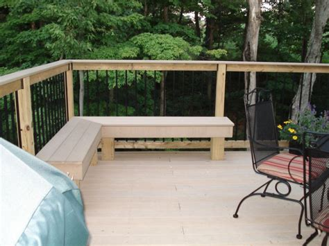 corner deck bench benched getting outdoor seating right yard ideas blog