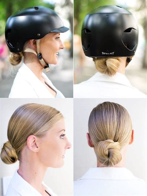 motorcycle hairstyles how do you wear your hair her 10 easy helmet friendly hairstyle tutorials for looking