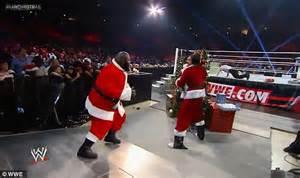 black santa up black santa beats up white santa is braw
