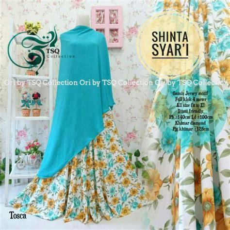 Baju Muslim Syari Motif Tutul gamis cantik shinta syar i motif bunga baju muslim terbaru