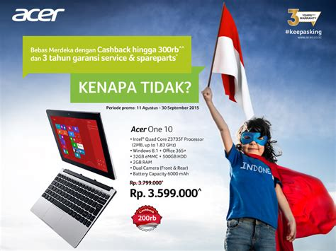 Promo Agustus Bebas Ongkir Merdeka pilih laptop acer sebebasnya di promo merdeka