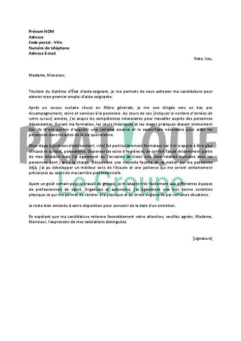 lettre de motivation aide soignante gratuite