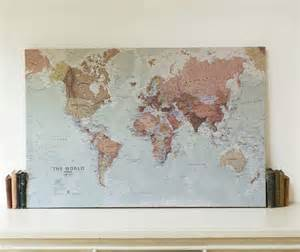World Map Canvas Print by Executive World Map Canvas Print By Maps International