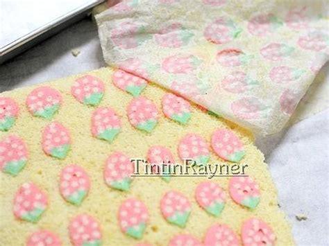 Alas Foto Motif Daun Le002 resep cara membuat motif pada japanese roll cake how to