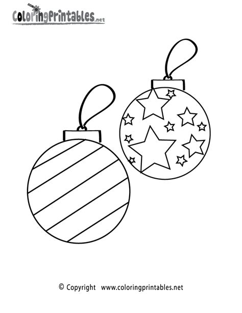 christmas ornaments coloring page a free holiday