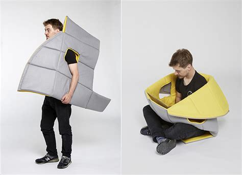 Bizarre Sharkman Wearable Furniture Can Be Used As A Wearable Laptop Desk