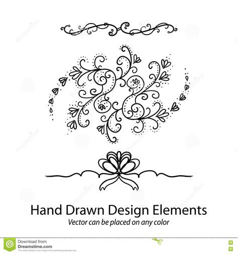 tattoo fonts underline fancy lines 4 vector illustration cartoondealer