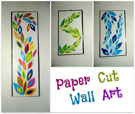 How To Make Prints On Paper - diy paper cut wall