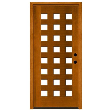 24 X 80 Exterior Door Steves Sons 36 In X 80 In Modern 24 Lite Obscure Stained Mahogany Wood Prehung Front Door