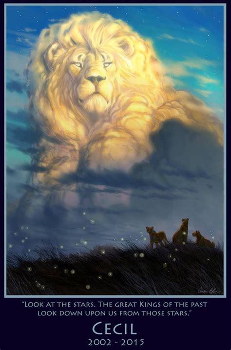 film lion sky lion king cecil tribute drawn by disney movie animator