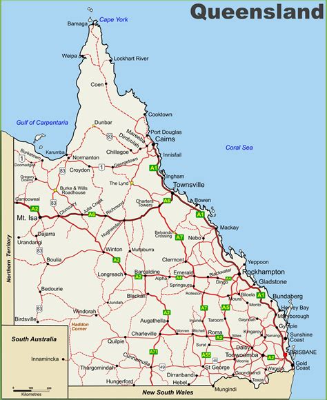 Printable Maps Queensland | queensland road maps printable printable maps