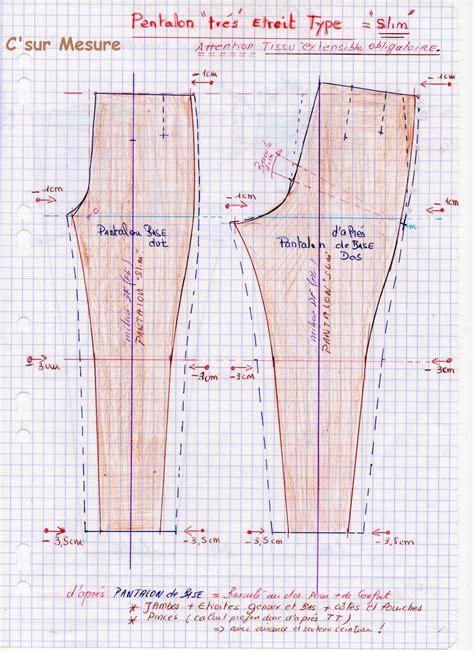pattern magic matières extensibles 4 15 pantalon slim type c sur mesure