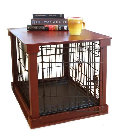 crate puppy merry products crate end table with cover review