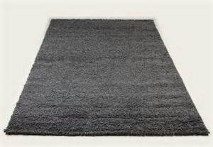 tapis shaggy gris de salon vasco 6